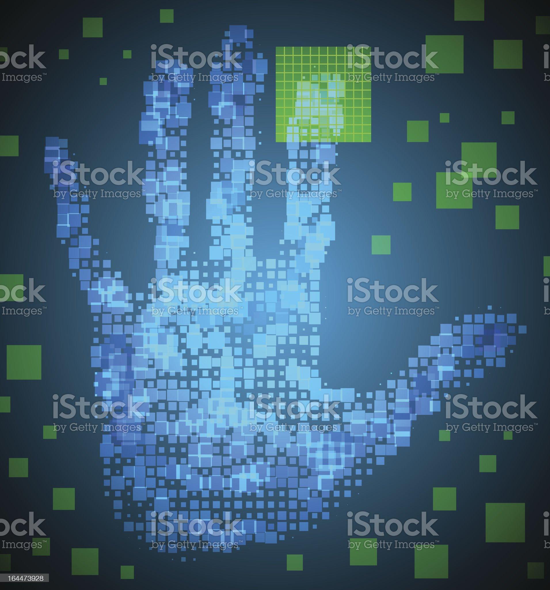 Enter Access Code royalty-free stock vector art