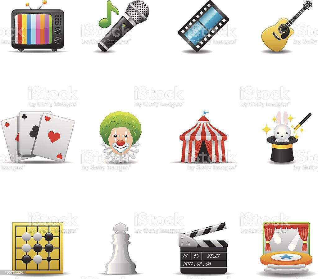 Entertainment Icon Set | Elegant Series royalty-free stock vector art