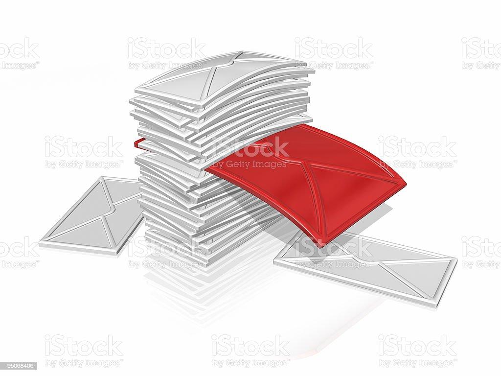 envelope heap royalty-free stock vector art