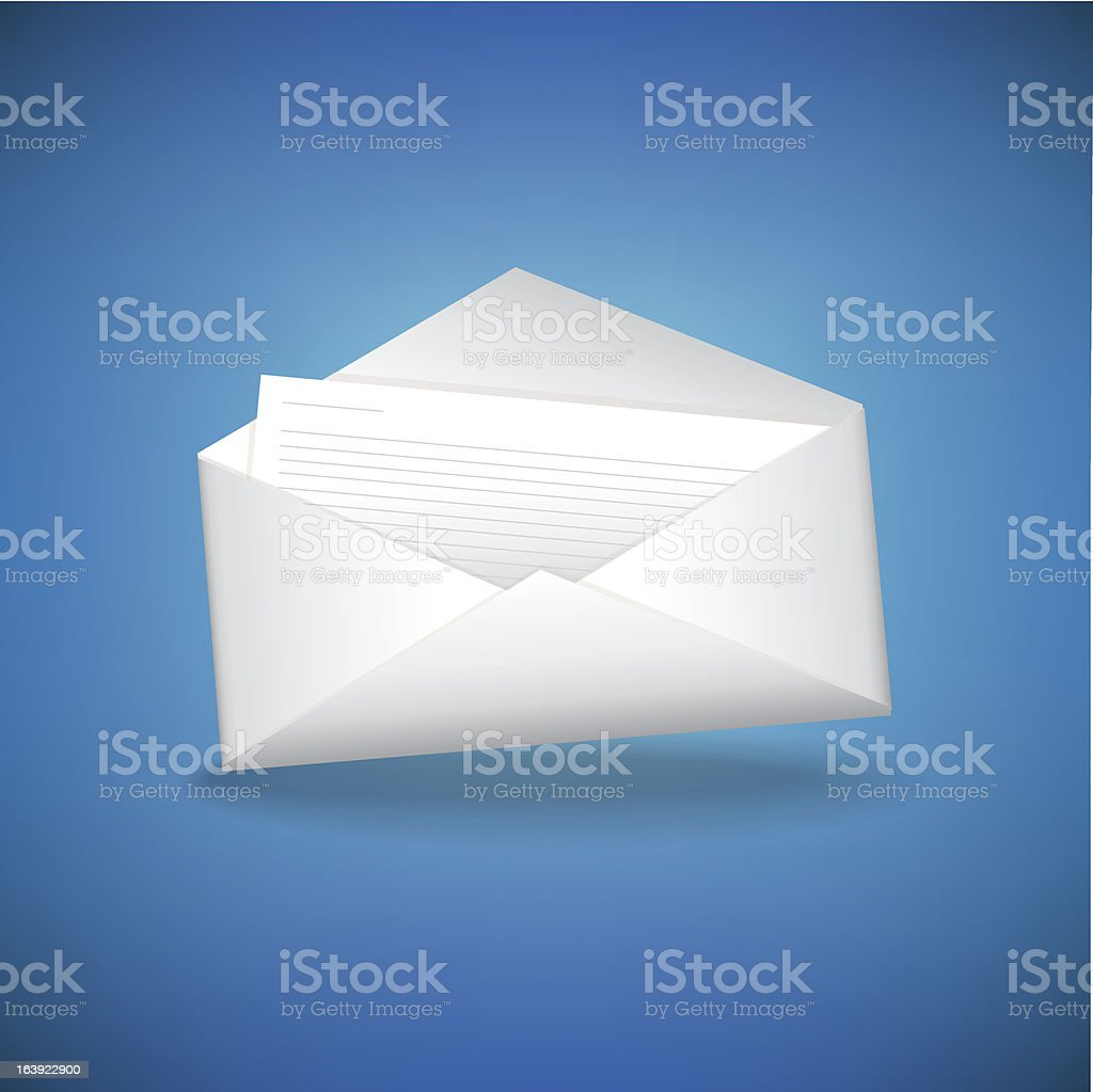 Envelope With Letter royalty-free stock vector art