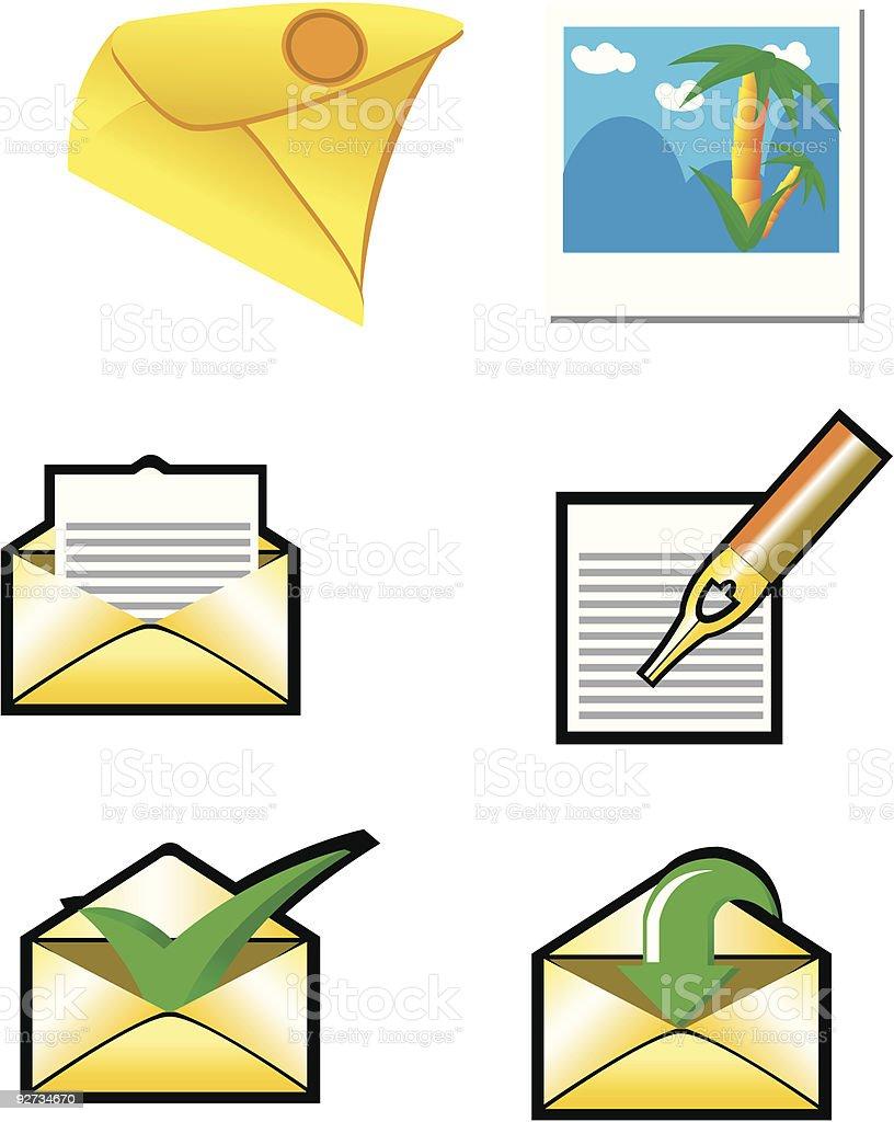 Envelopes set royalty-free stock vector art