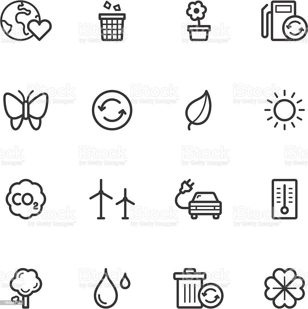 Environment and Recycling Icons vector art illustration