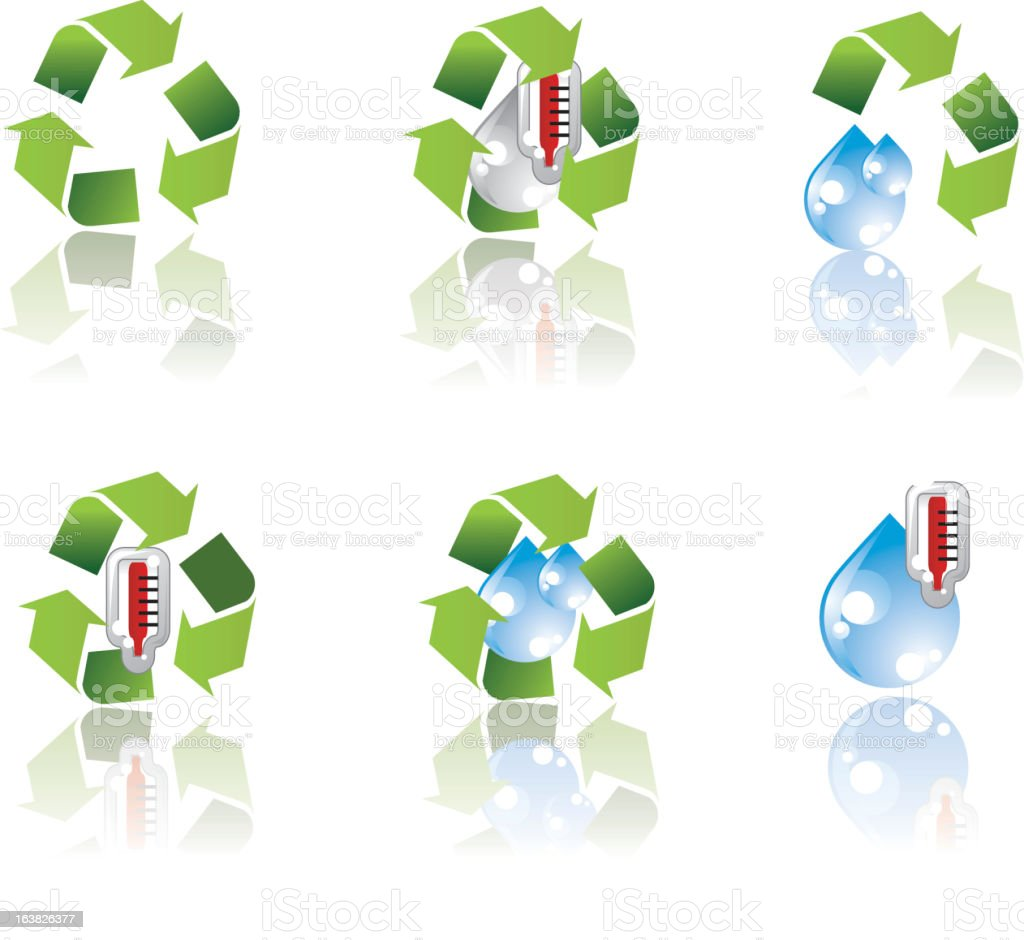 environment icon set royalty-free stock vector art