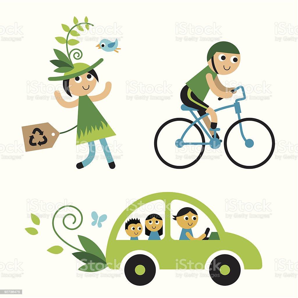 Environment Set: Transport royalty-free stock vector art