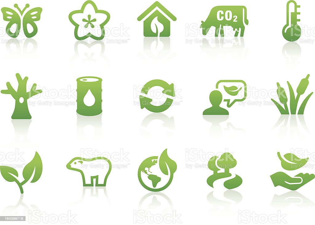 Environmental icons 2 royalty-free stock vector art
