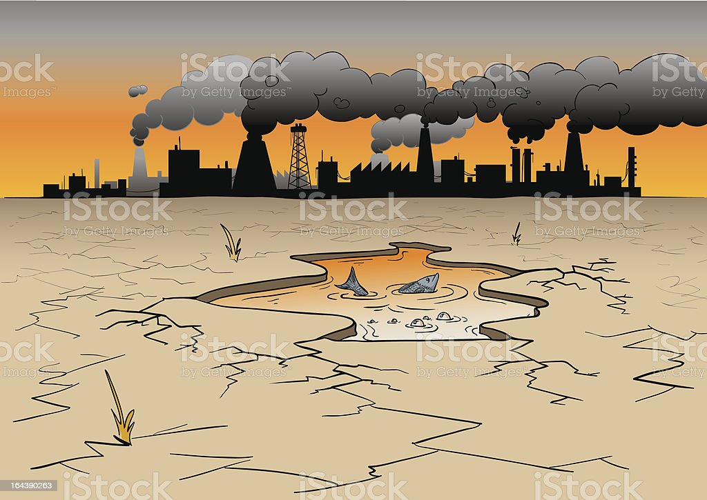 environmental pollution royalty-free stock vector art