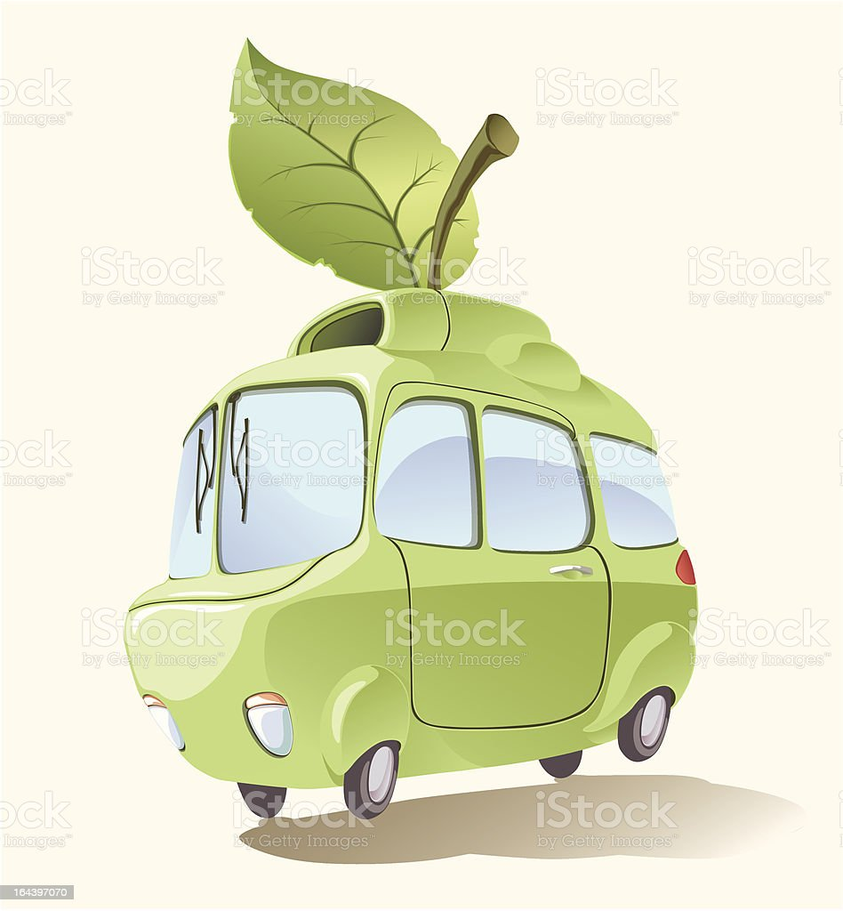 Environmentally friendly car royalty-free stock vector art