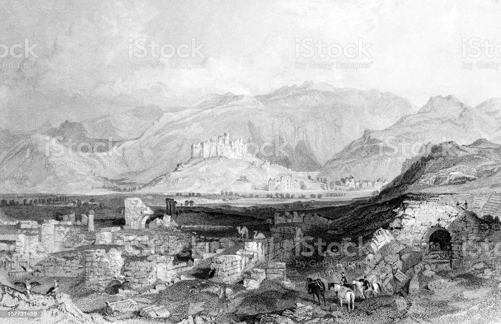 Ephesus royalty-free stock vector art