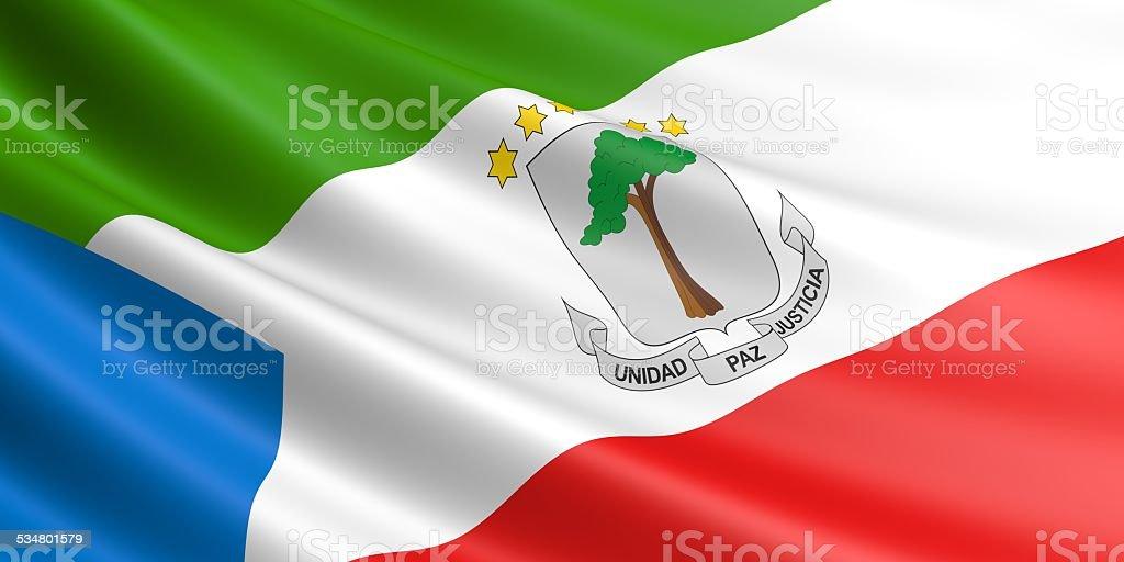 Equatorial Guinea flag. royalty-free stock vector art