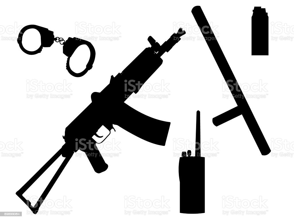Equipment police royalty-free stock vector art