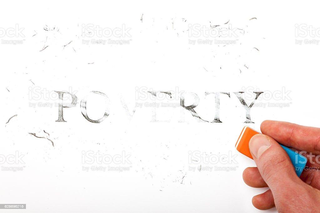 Erase Poverty vector art illustration