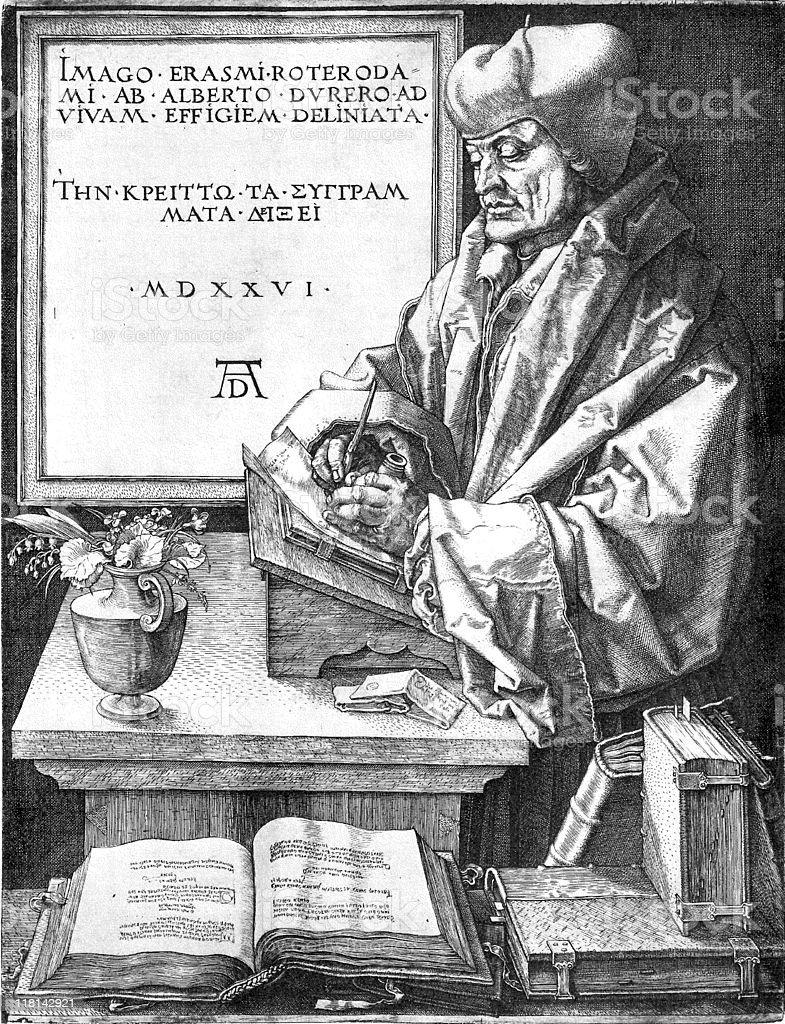 Erasmus of Rotterdam royalty-free stock vector art