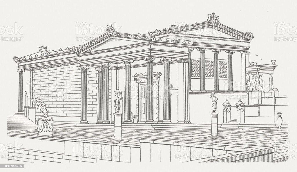 Erechtheion vector art illustration