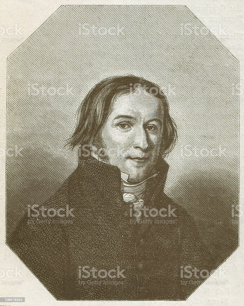 Ernst Moritz Arndt (1769-1860), German writer, wood engraving, published 1879 royalty-free stock vector art