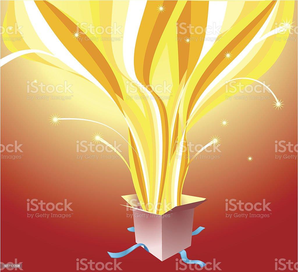 Erupting Present royalty-free stock vector art