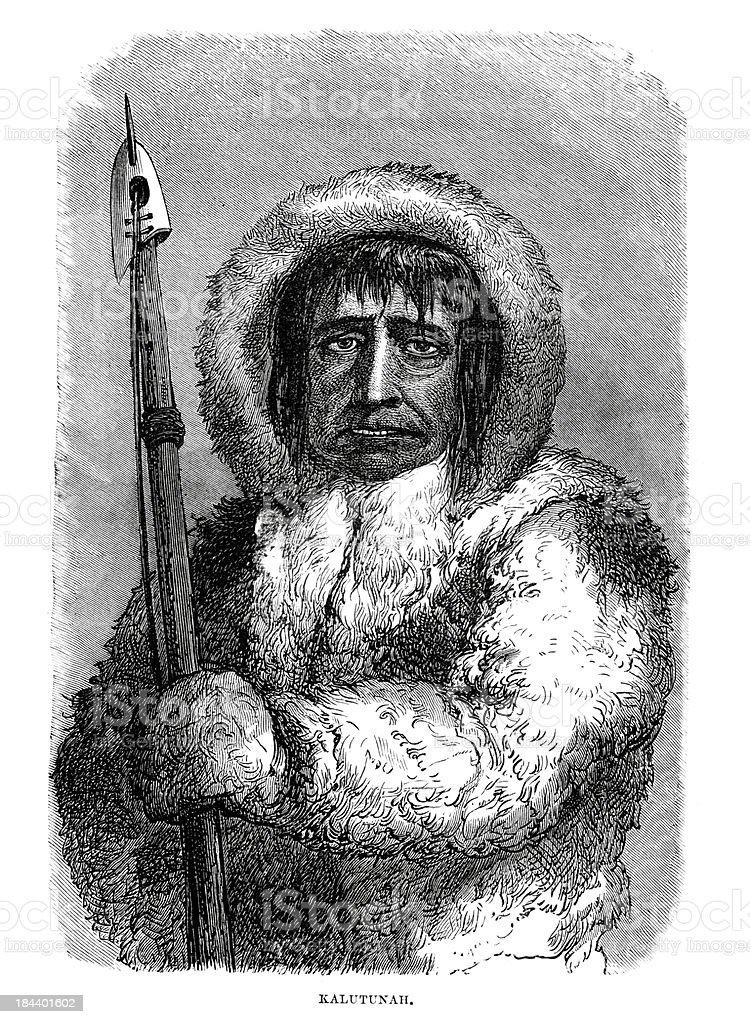 Eskimo royalty-free stock vector art