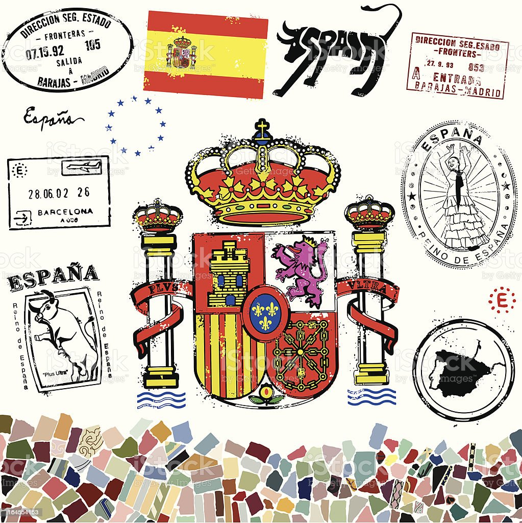 Espania Magnifico royalty-free stock vector art