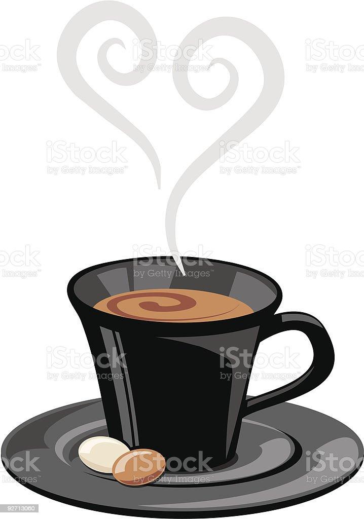 espresso love vector art illustration