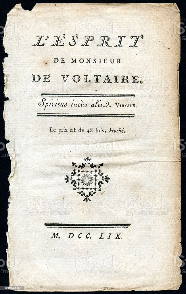 L'esprit de Monsieur De VOLTAIRE  (XXXL) royalty-free stock vector art