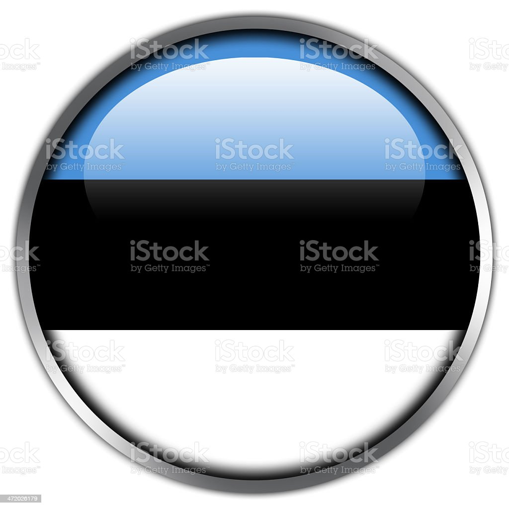 Estonia Flag glossy button royalty-free stock vector art