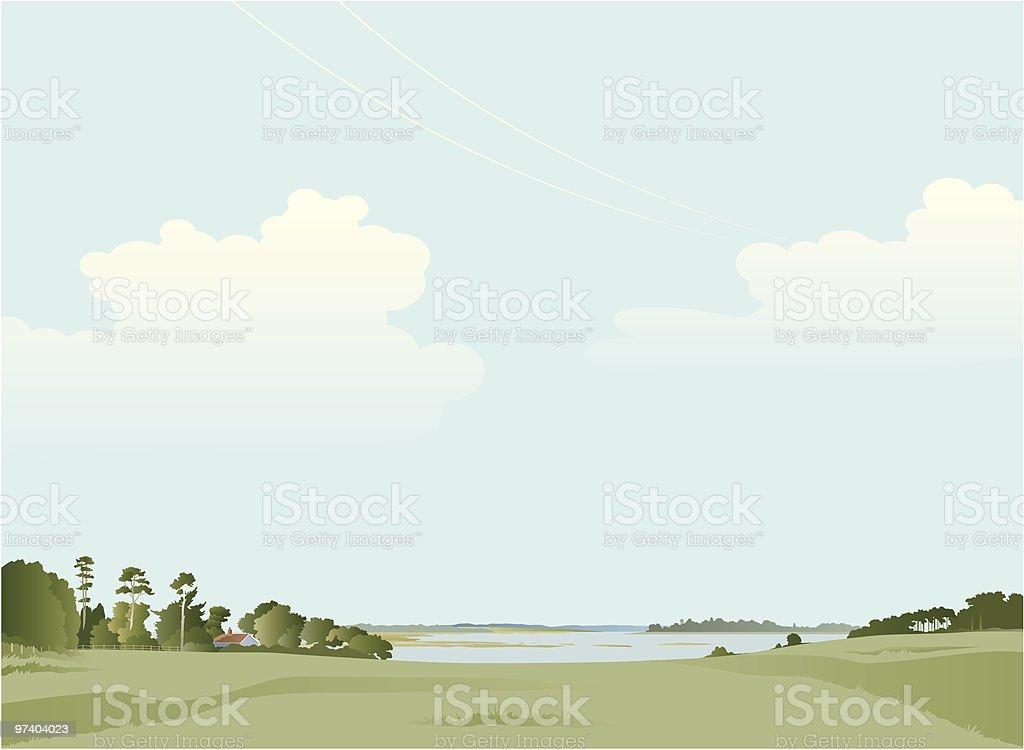 Estuary vector art illustration