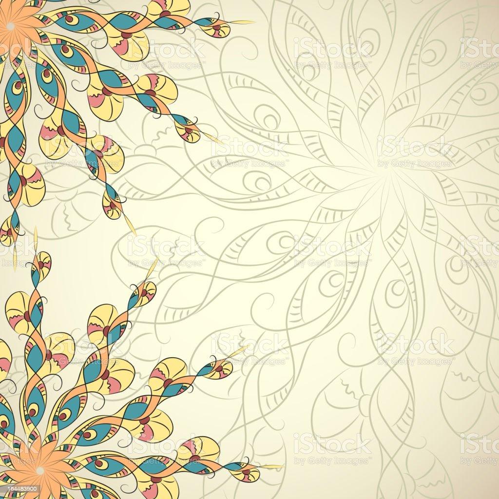 Ethnic background. Vector frame. royalty-free stock vector art