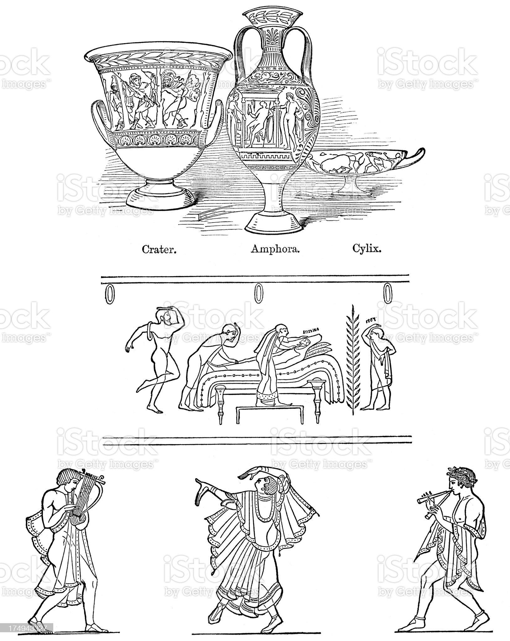 Etruscan Art royalty-free stock vector art
