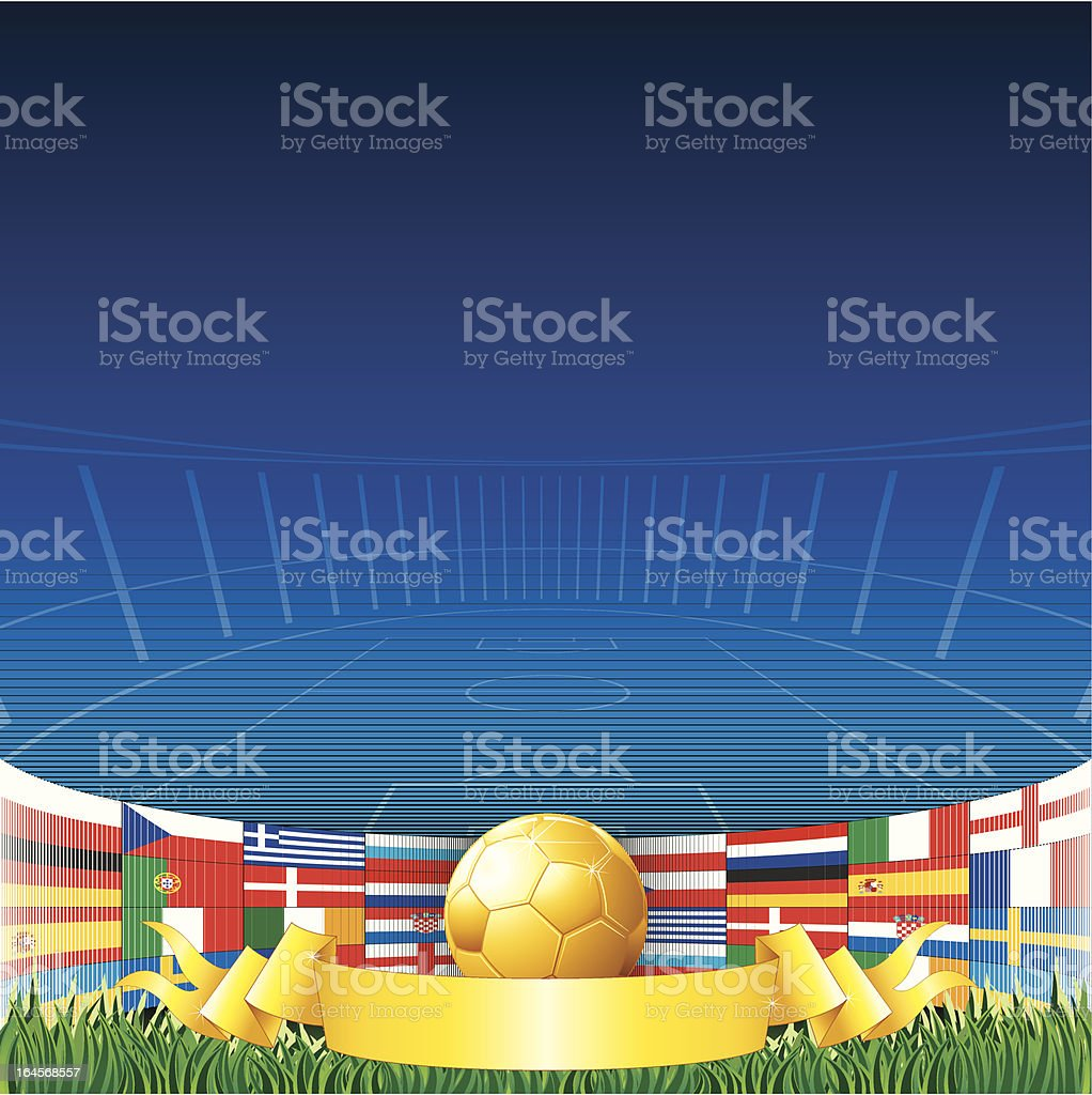 Euro 2012 Background royalty-free stock vector art