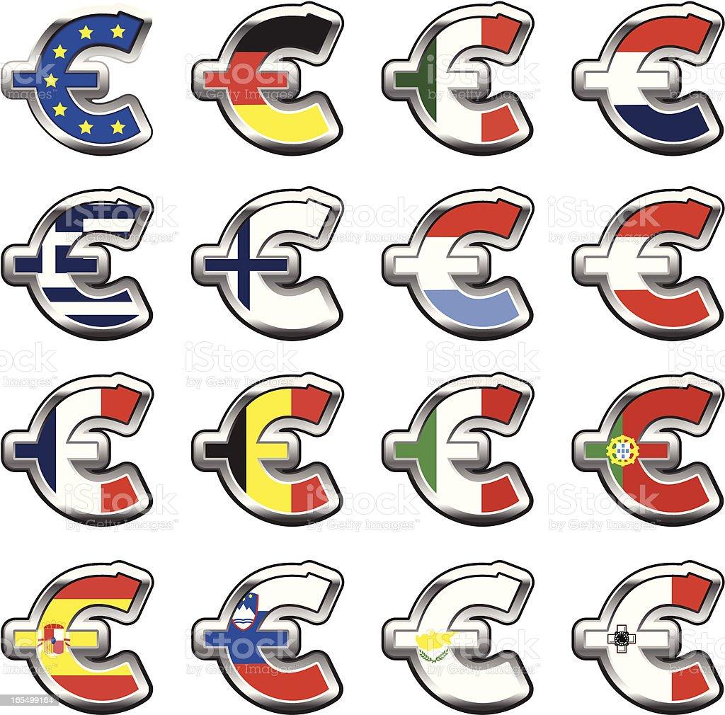 Euro countries royalty-free stock vector art