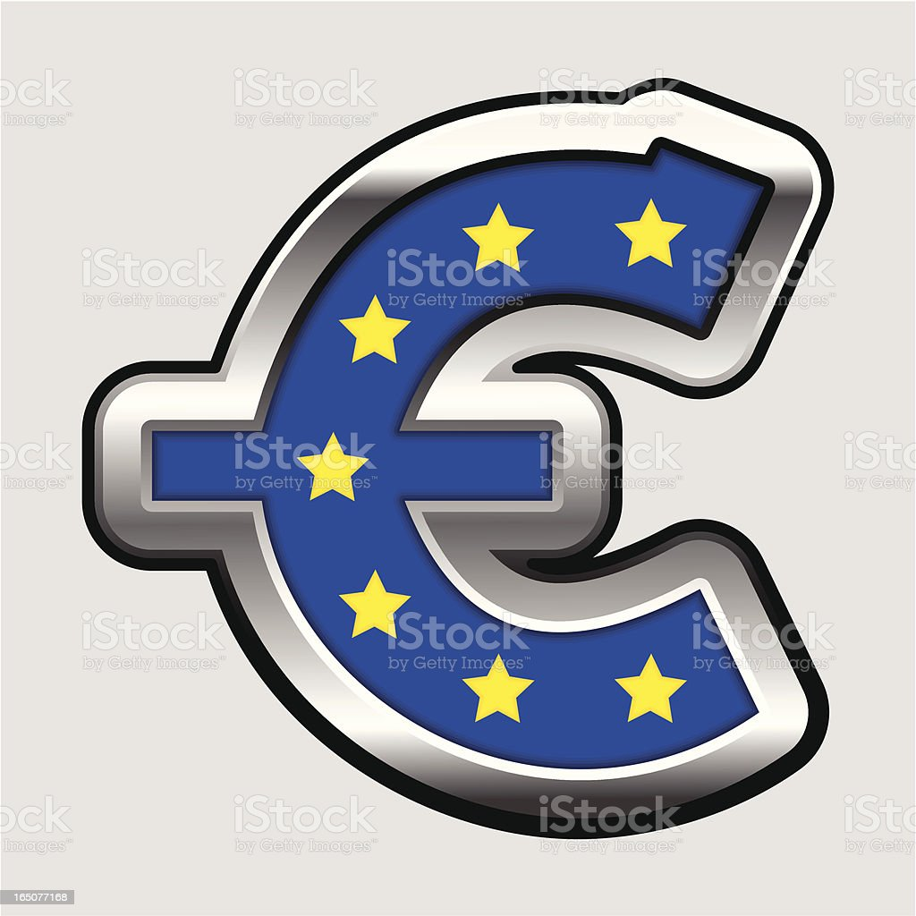 Euro sign royalty-free stock vector art