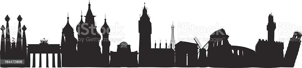 Europe Skyline royalty-free stock vector art