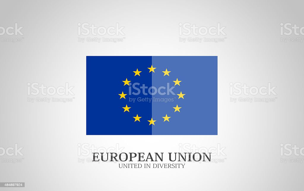 European Flag vector art illustration