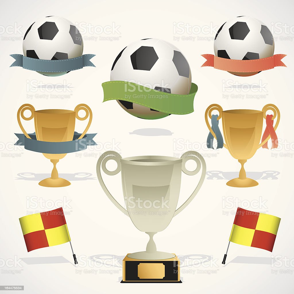 European footbal design elements royalty-free stock vector art
