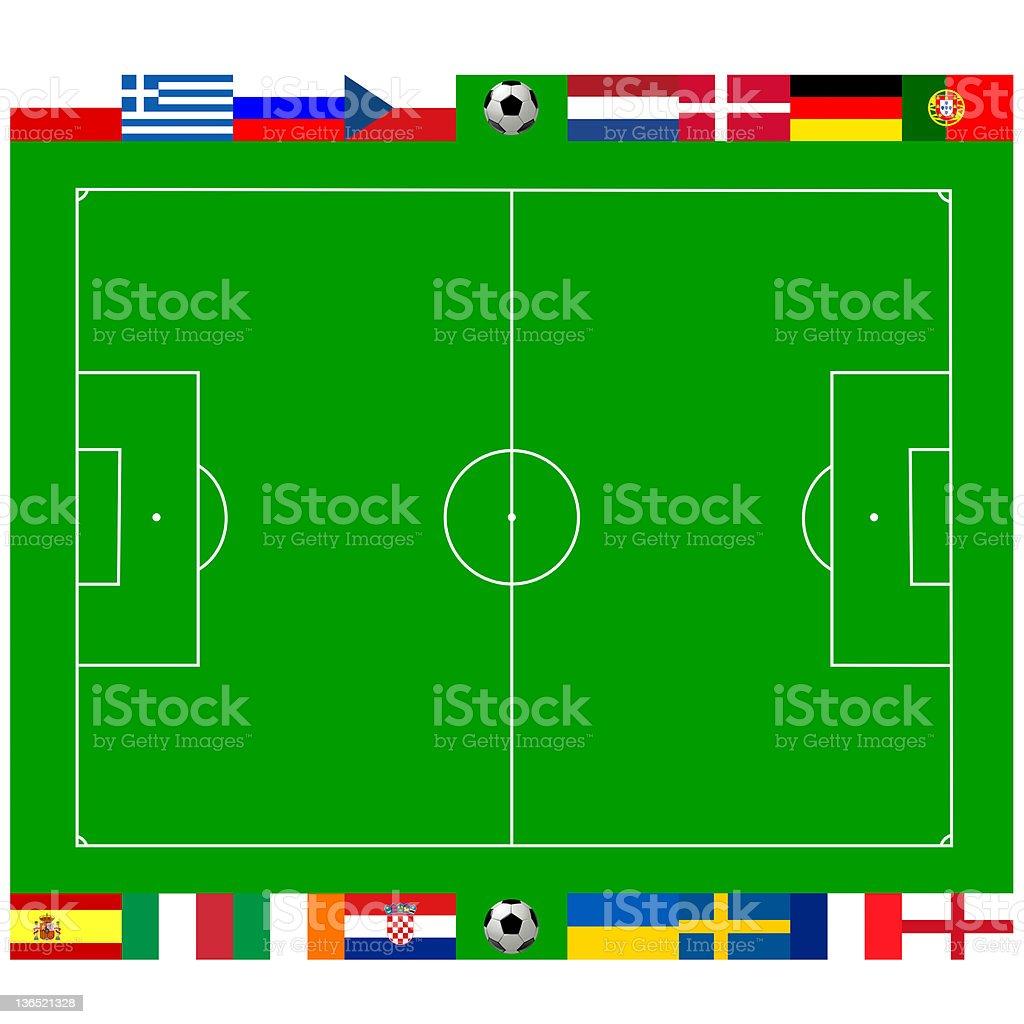European football championship 2012 vector art illustration