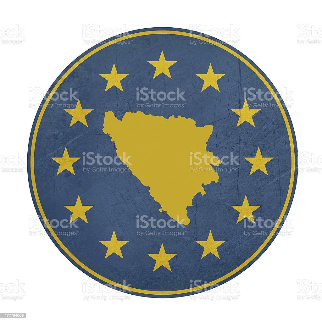 European Union Bosnia and Herzegovina button royalty-free stock vector art