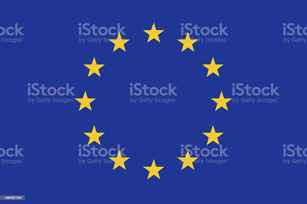 European union flag. vector art illustration