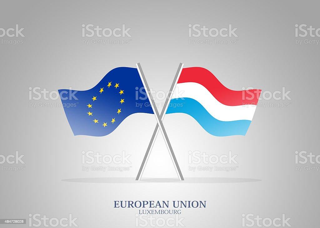 European Union Member Luxembourg vector art illustration