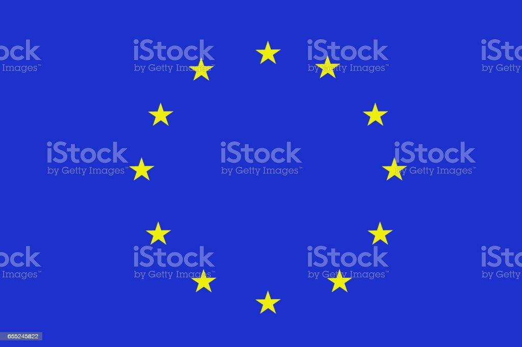 European Union national flag 3D illustration symbol vector art illustration