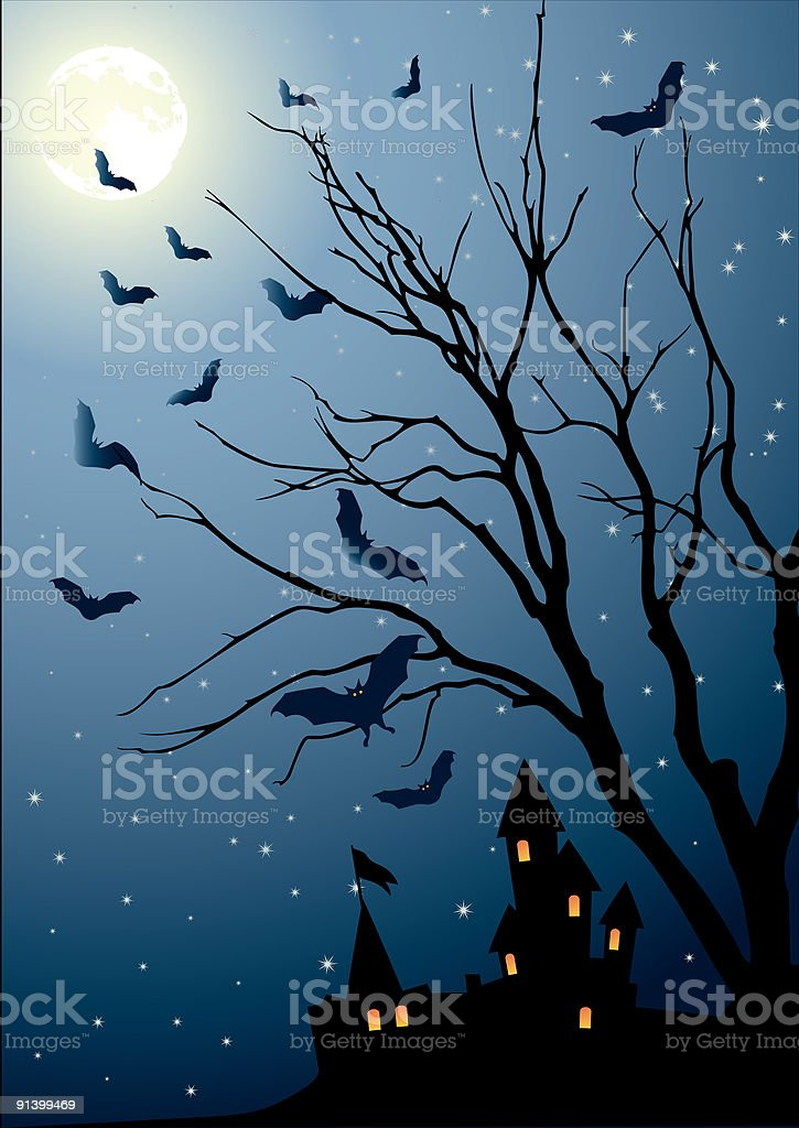 eve of halloween royalty-free stock vector art
