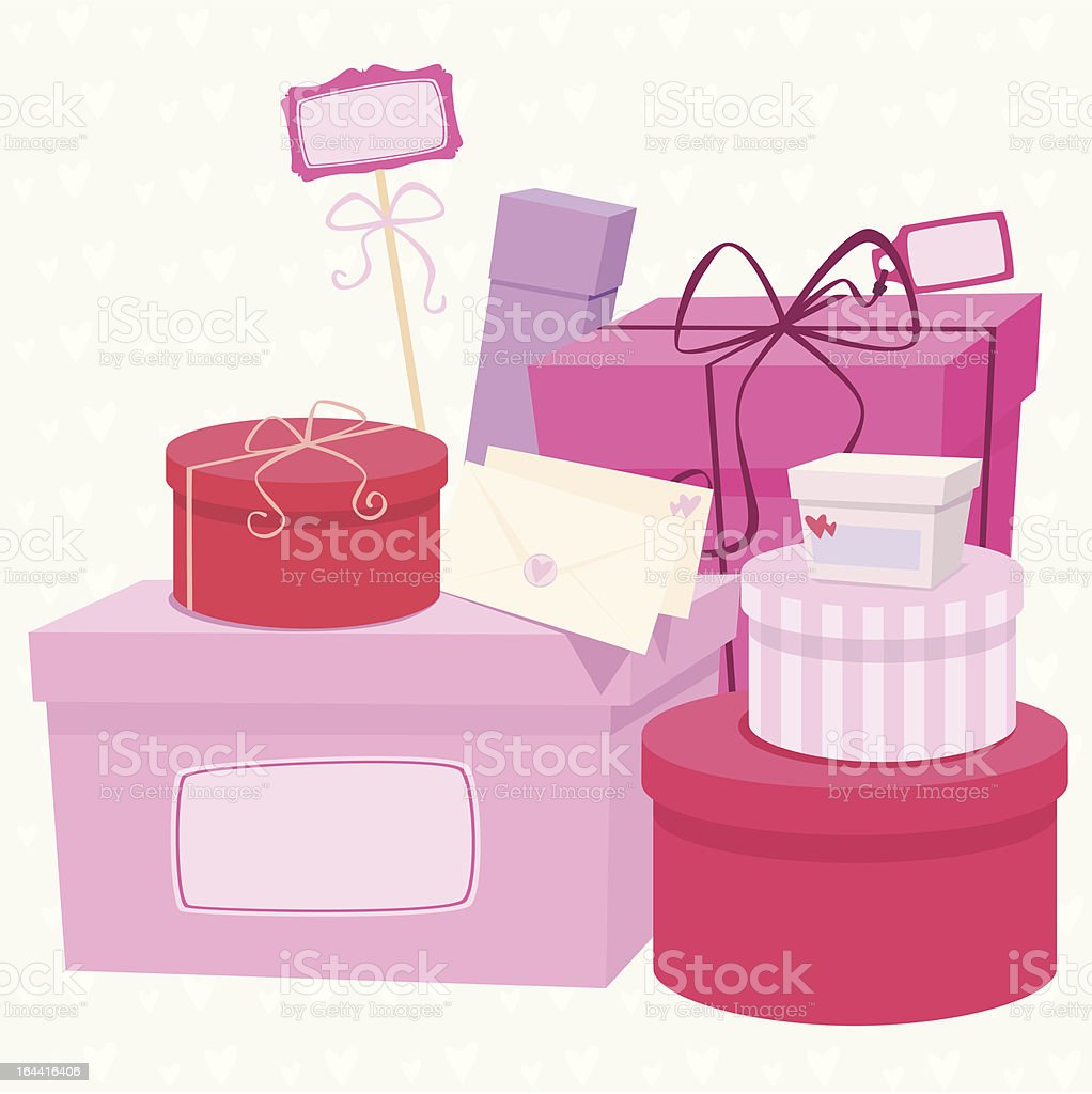 Every girl loves presents! royalty-free stock vector art