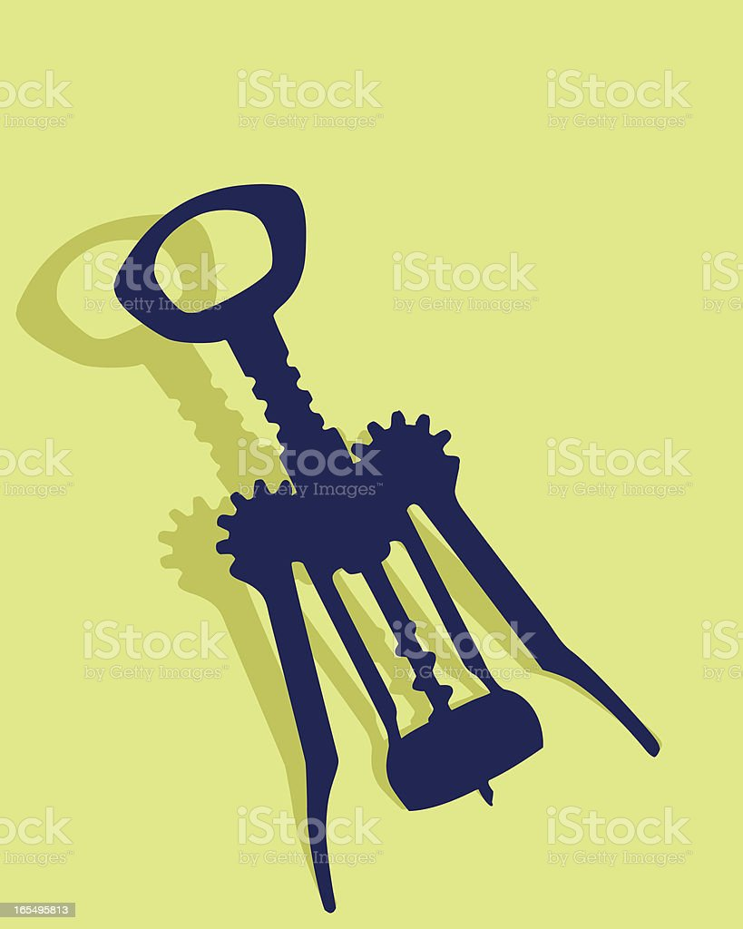 Everyday Objects — Corkscrew royalty-free stock vector art