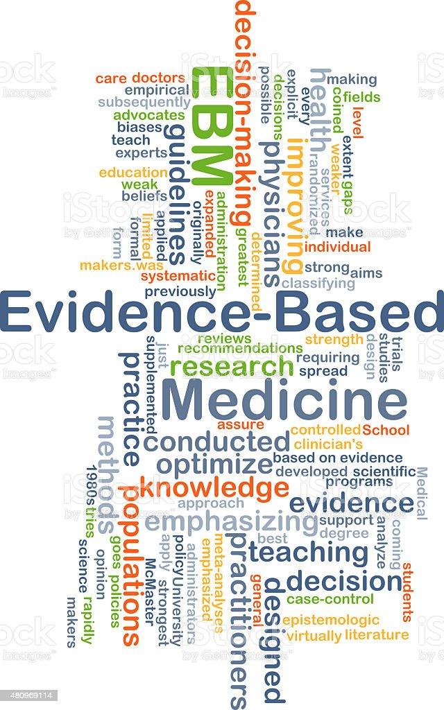 Evidence-based medicine EBM background concept vector art illustration
