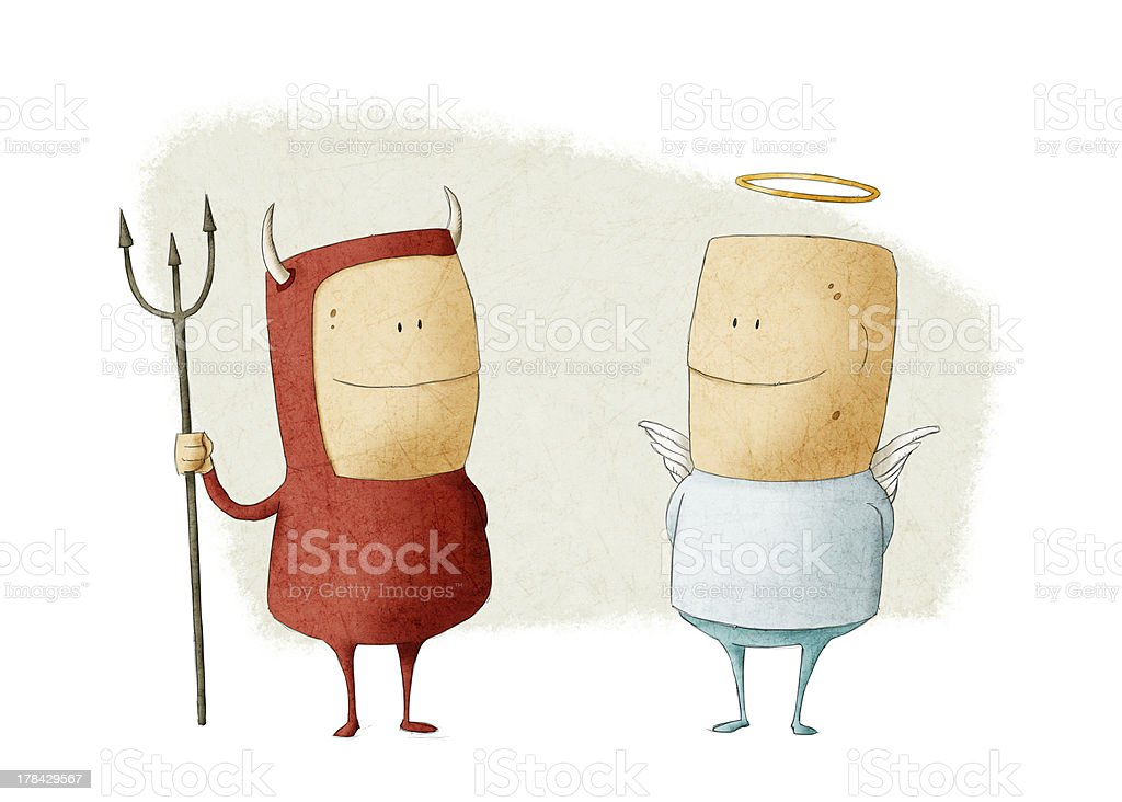 evil and angel royalty-free stock vector art