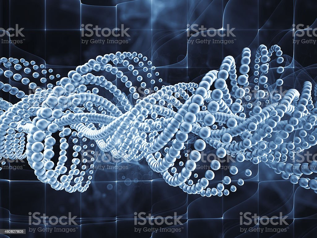 Evolving DNA vector art illustration