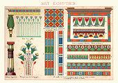 Examples of Ancient Egytian Art Ornamentation