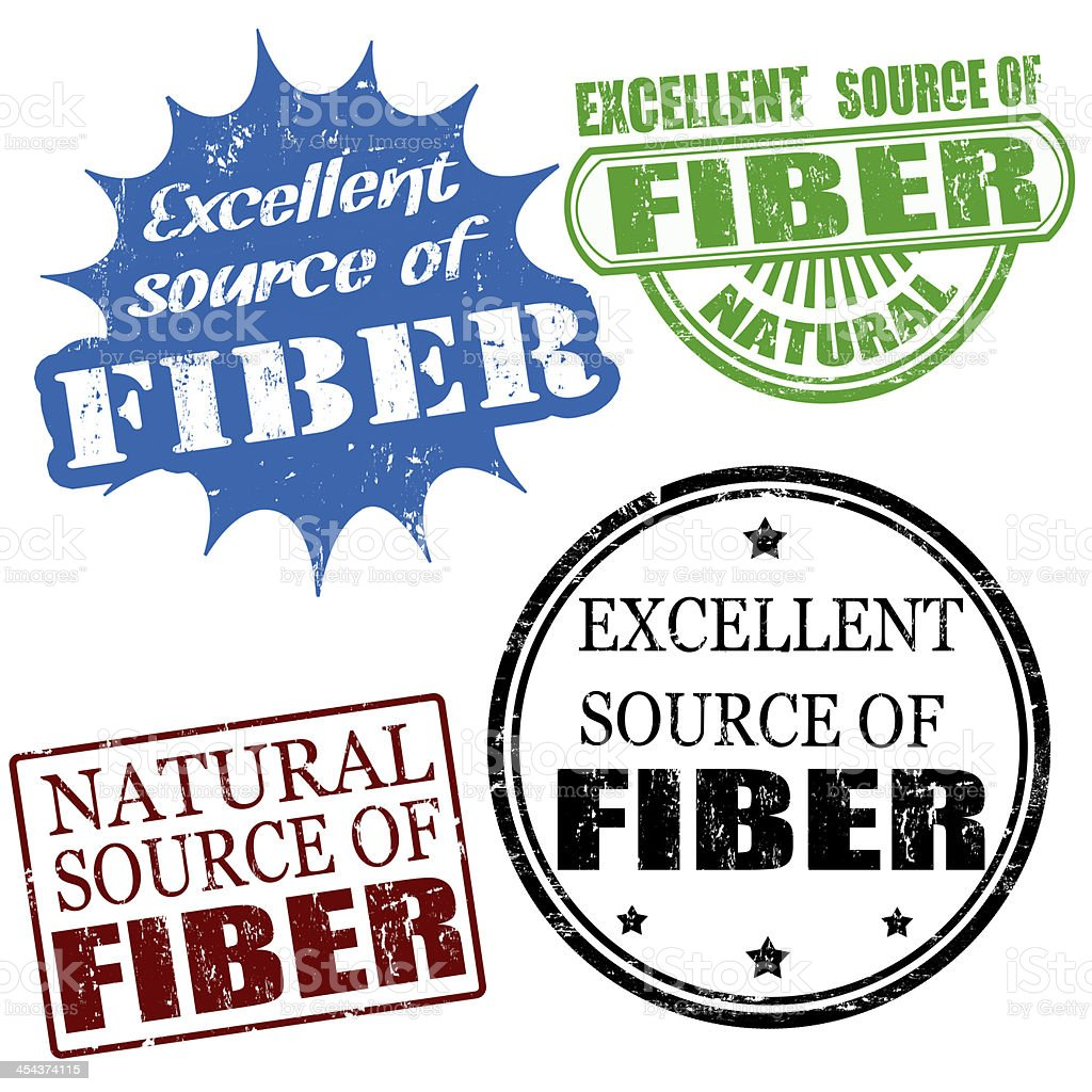 excellent source of fiber stamps royalty-free stock vector art