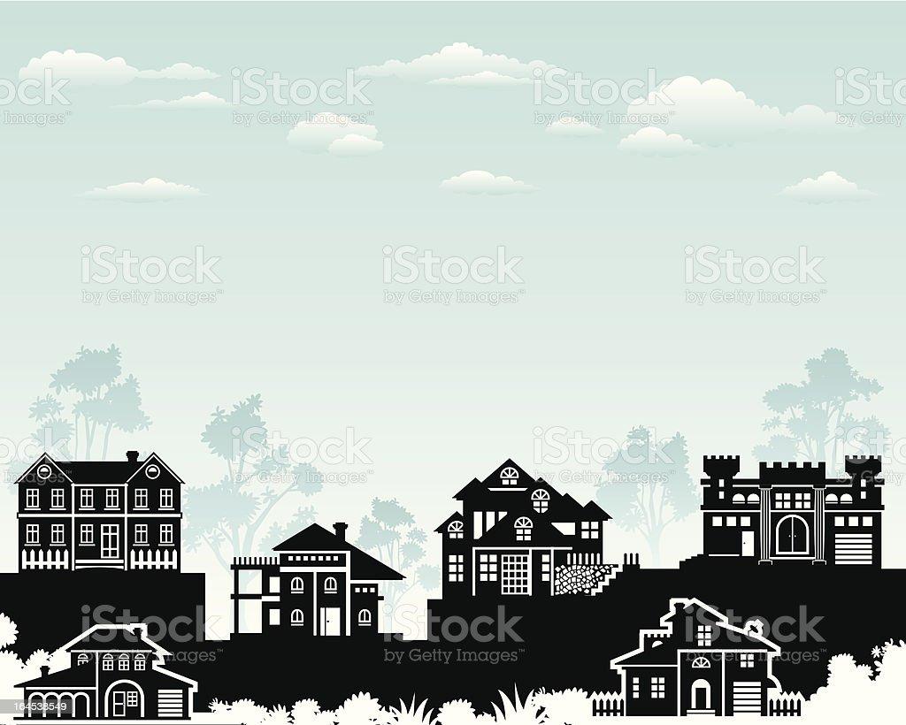 Exclusive Living vector art illustration