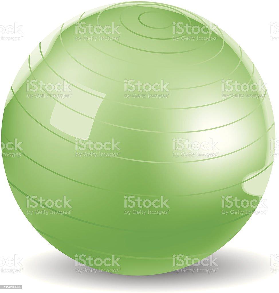 Exercise Ball Vector royalty-free stock vector art