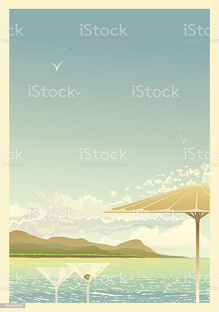 Exotic Retro Poster royalty-free stock vector art