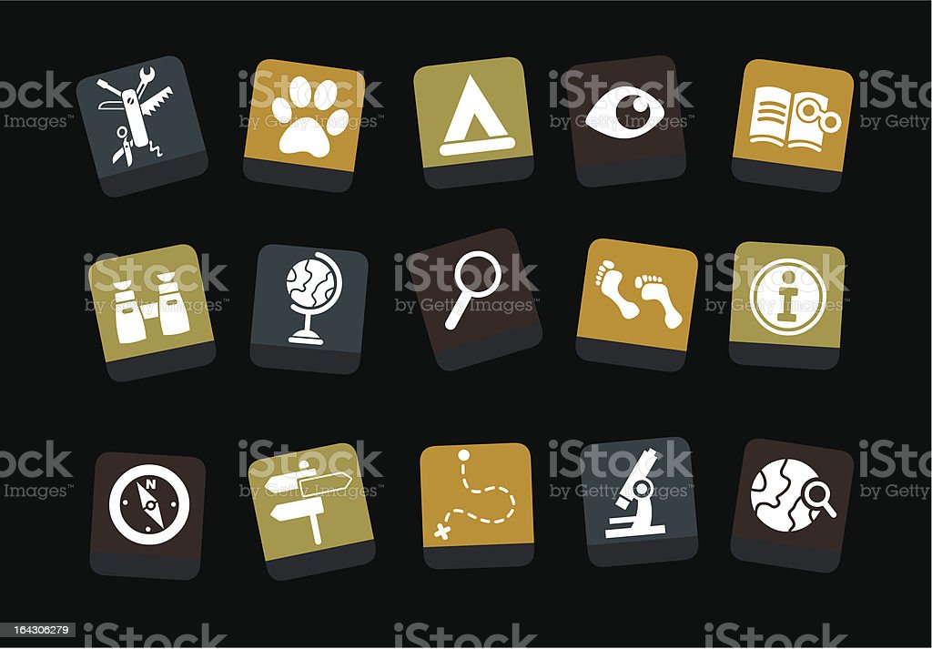 Exploration Icon royalty-free stock vector art